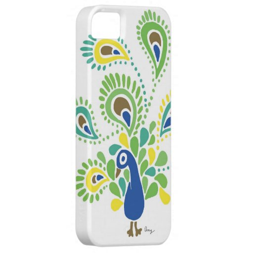 Paisley Peacock - Teardrop Feathers iPhone 5 Case