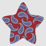 Paisley Colcomanias Forma De Estrella Personalizadas