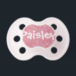 "&quot;Paisley&quot; Personalized Name Glitter Pacifier<br><div class=""desc"">Paisley</div>"