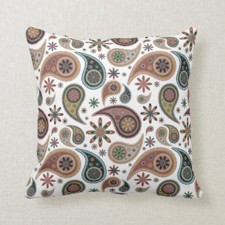 Paisley Pillow - Chocolate/Blue - 1