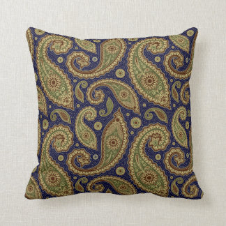 Paisley Pillow - Green/Brown - 4