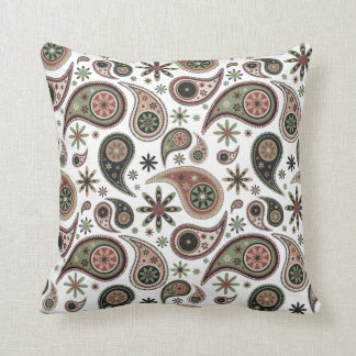 Paisley Pillow - Green/Pink - 1