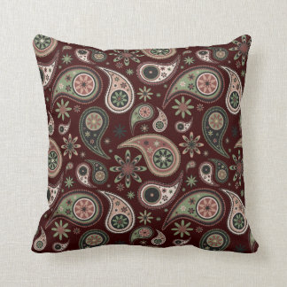 Paisley Pillow - Green/Pink - 2