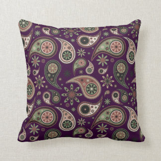 Paisley Pillow - Green/Pink - 4