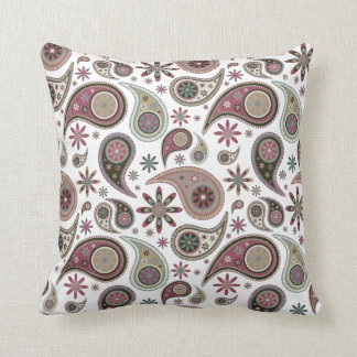 Paisley Pillow - Mauve - 1
