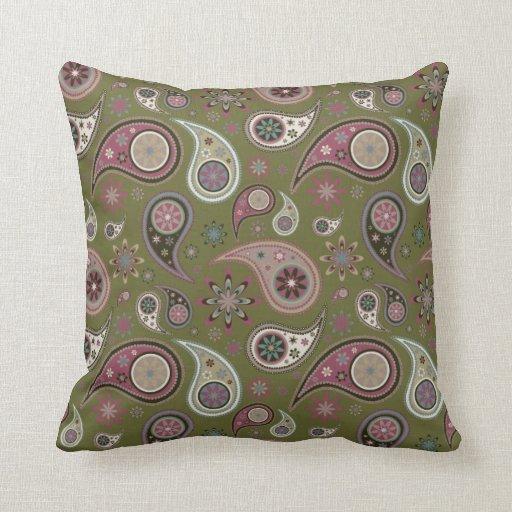 Paisley Pillow - Mauve - 2