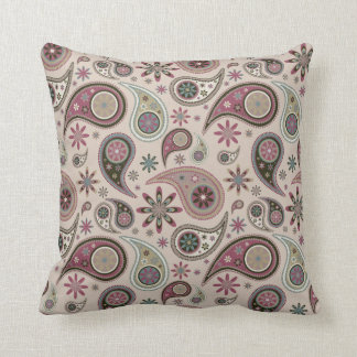 Paisley Pillow - Mauve - 4