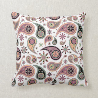 Paisley Pillow - Pink Candy - 1
