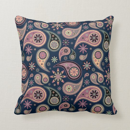 Paisley Pillow - Pink Candy - 4