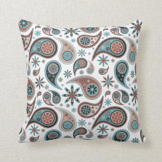 Paisley Pillow - Powder Blue - 1