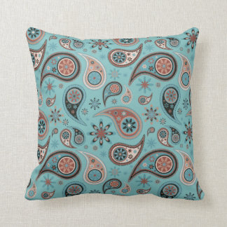 Paisley Pillow - Powder Blue - 2