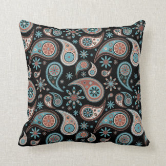 Paisley Pillow - Powder Blue - 3