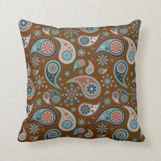 Paisley Pillow - Powder Blue - 4