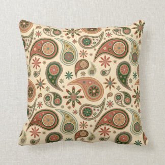 Paisley Pillow - Pumpkin - 2