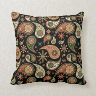 Paisley Pillow - Pumpkin - 3