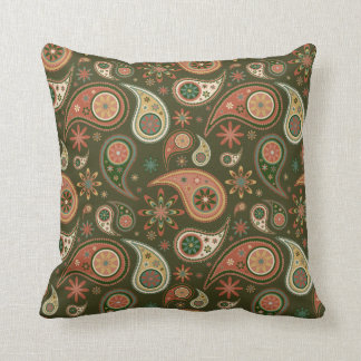 Paisley Pillow - Pumpkin - 4