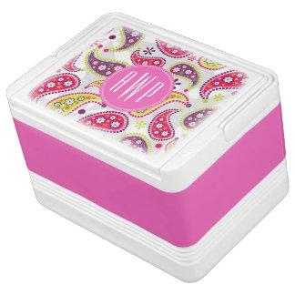 Paisley & Pink Monogram Drink Cooler