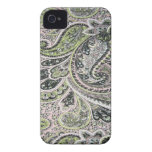 Paisley Pink Sage Blackberry Bold 9700-9780 iPhone 4 Cover