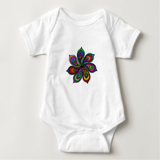 Paisley Pinwheel of Colors Baby Bodysuit