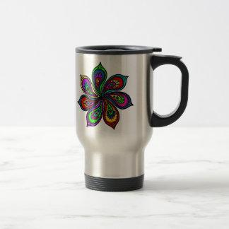 Paisley Pinwheel of Colors Travel Mug
