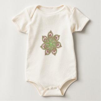 Paisley Pinwheel Pink Green Baby Bodysuit