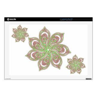 Paisley Pinwheel Pink Green Laptop Decal Skin