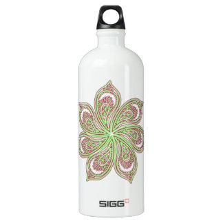 Paisley Pinwheel Pink Green SIGG Traveler 1.0L Water Bottle