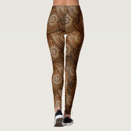 Paisley Plus browns Leggings