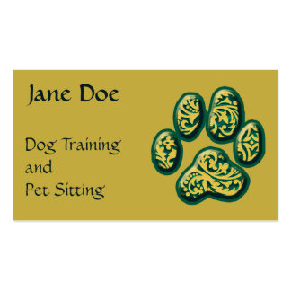 Paisley Puppy Print Business Card