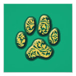 Paisley Puppy Print Custom Invitation