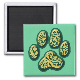 Paisley Puppy Print Refrigerator Magnets