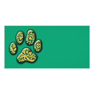 Paisley Puppy Print Photo Card