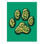 Paisley Puppy Print Postcards