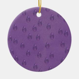 Paisley Purple Tears Ceramic Ornament
