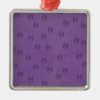 Paisley Purple Tears Metal Ornament