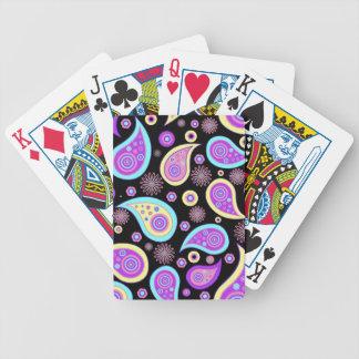 Paisley púrpura bonita (oscura) barajas de cartas