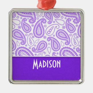 Paisley púrpura de moda adornos de navidad