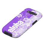 Paisley púrpura; Hawaiana, hibisco Samsung Galaxy S3 Protector