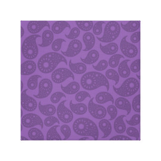 Paisley púrpura oscura impresiones en lienzo estiradas