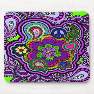 Paisley púrpura psicodélica Mousepad