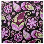 Paisley púrpura y amarilla servilleta