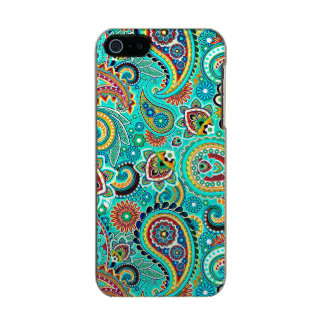 Paisley retra colorida carcasa de iphone 5 incipio feather shine