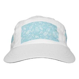 Paisley retra en azul del trullo gorra de alto rendimiento