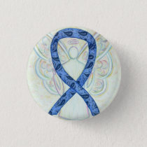 Paisley Ribbon Angel Thyroid Disease Awareness Pin