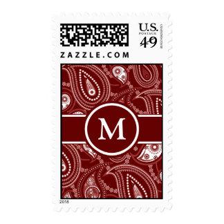 Paisley roja y blanca sellos