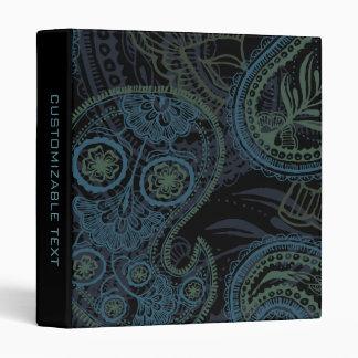"""Paisley romántica de la turquesa, azul y verde carpeta 1"""""""