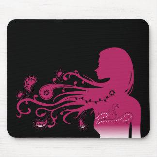 Paisley rosada alfombrillas de raton
