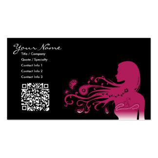 Paisley rosada:  código del qr tarjetas de visita