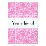 Paisley rosada invitación 12,7 x 17,8 cm