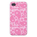 Paisley rosada iPhone 4/4S carcasa